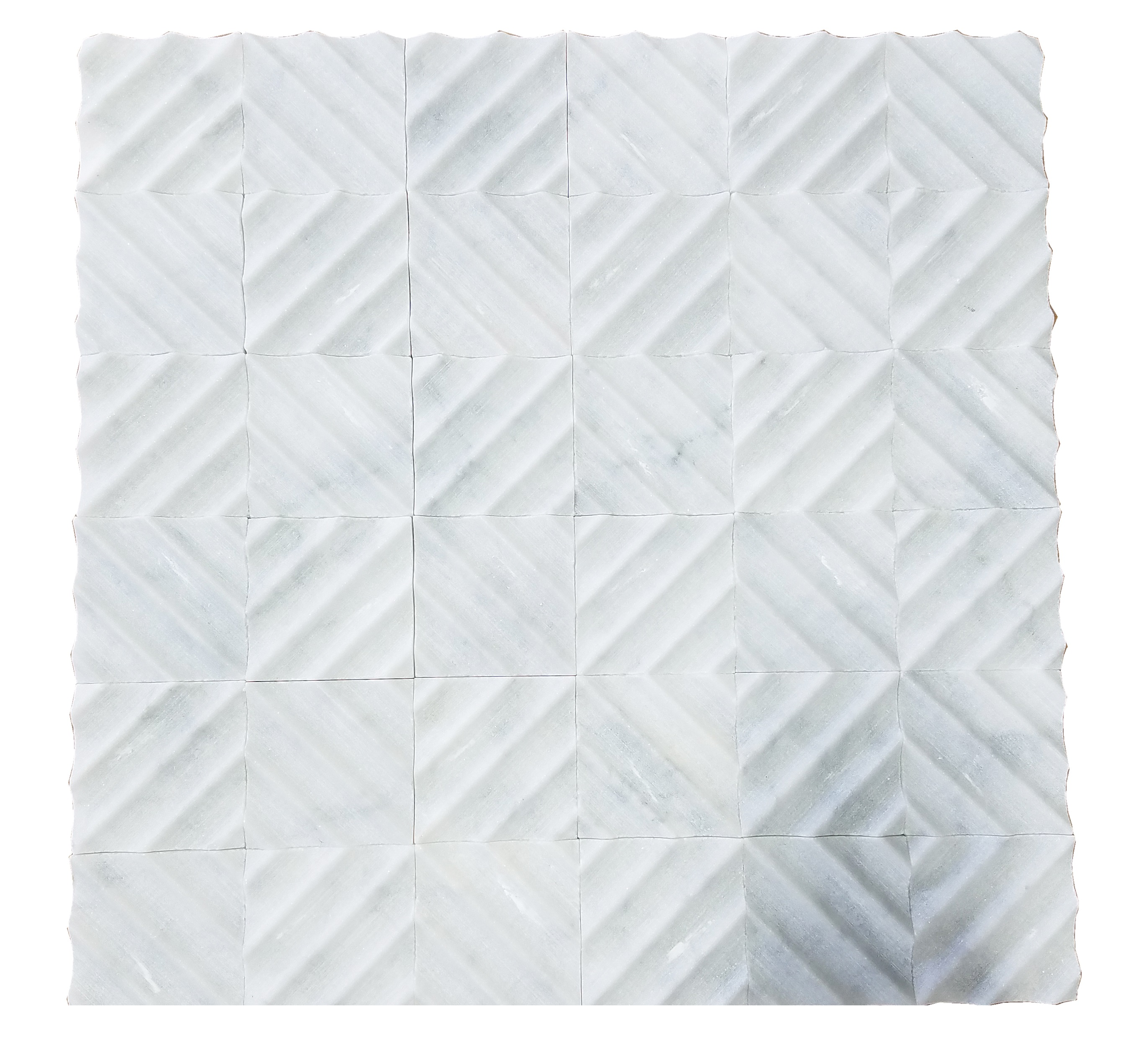 MA229-RQ  White Carrara Marble Mosaic Honed