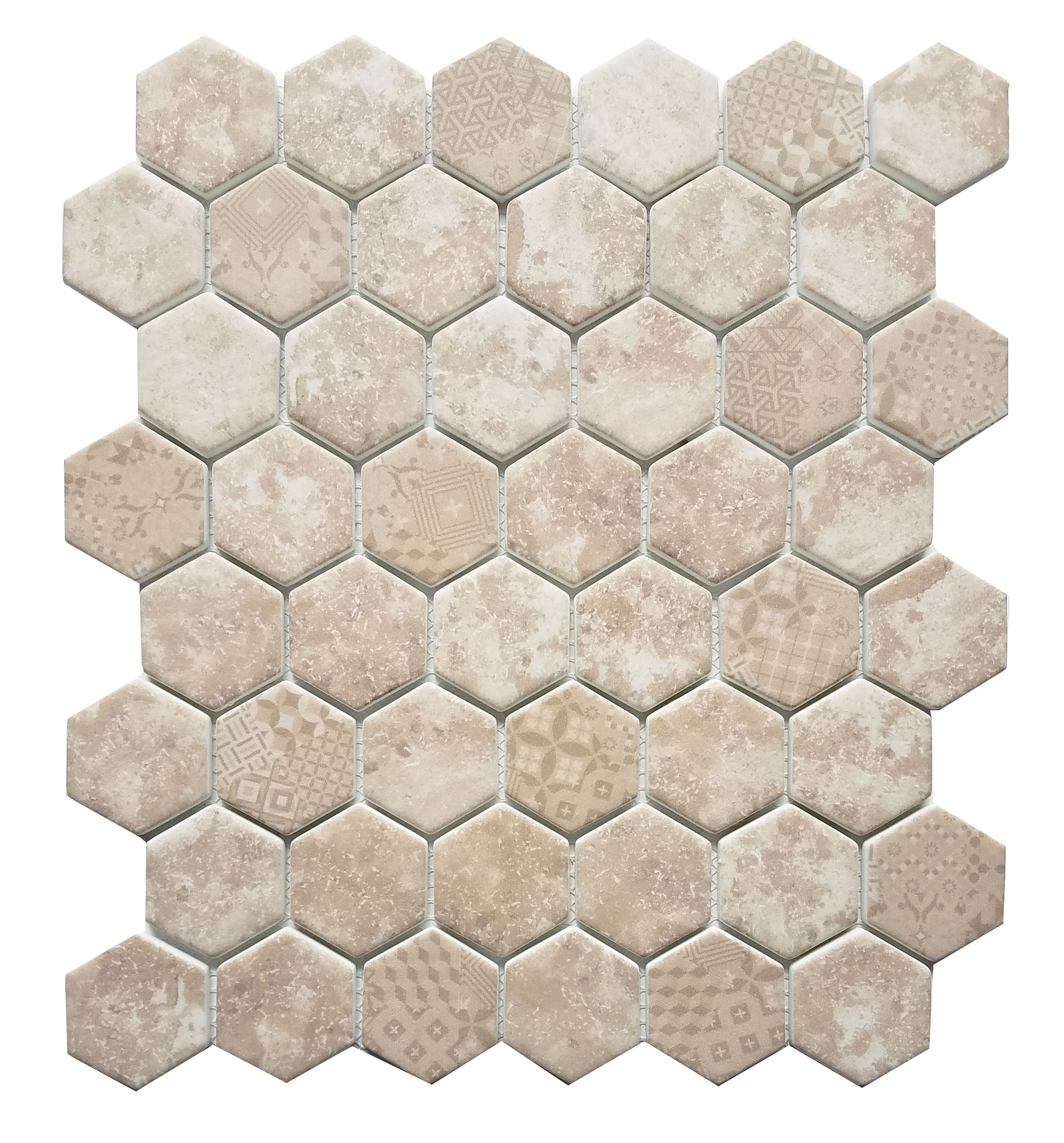 MA101-HX  2 x 2 Hexagon High density recycle glass