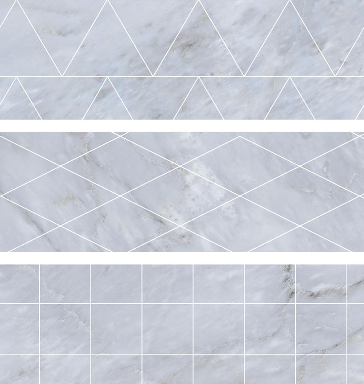 4.5 X 13 Deco Velvet Gris brick porcelain tile