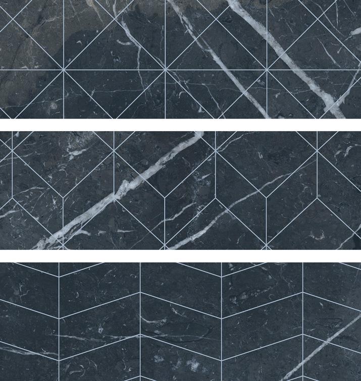 4.5 X 13 Deco Velvet Negro brick porcelain tile