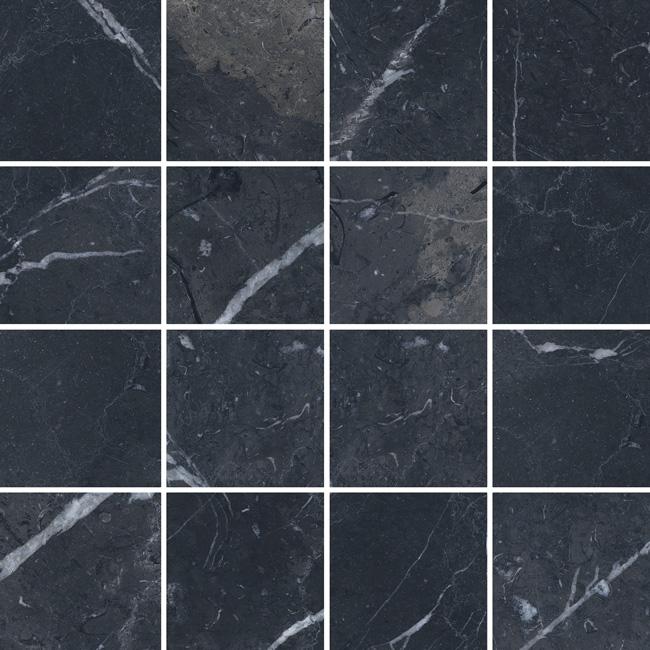 3.5 X 3.5 Velvet Negro porcelain mosaic