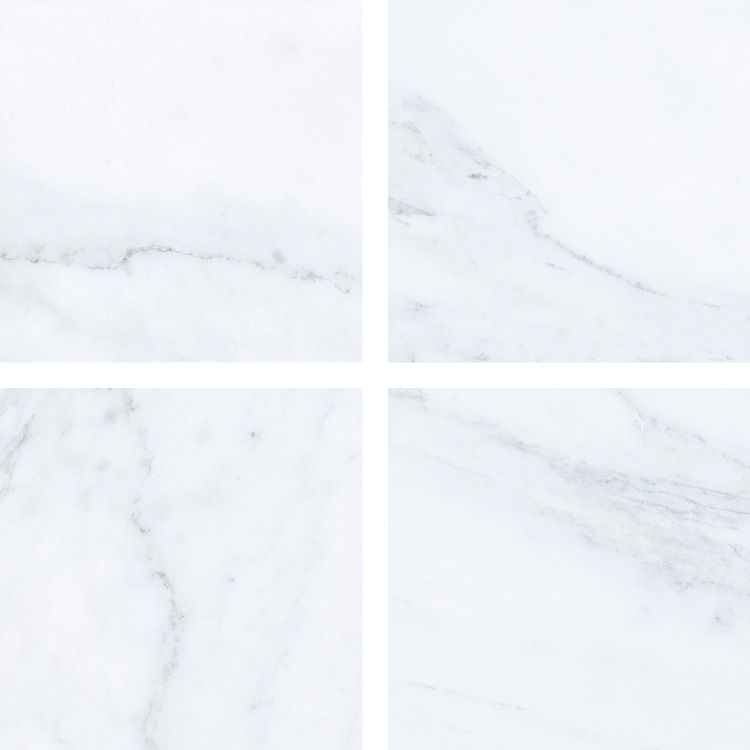 6.5 X 6.5 Velvet Blanco porcelain tile