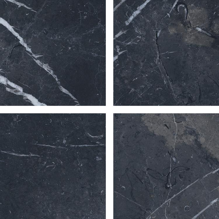 6.5 X 6.5 Velvet Negro porcelain tile