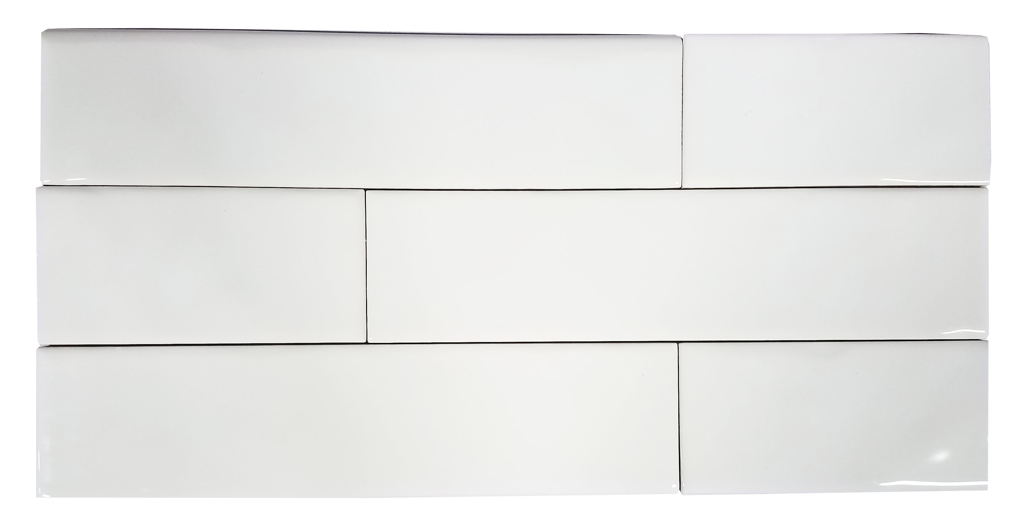 2 x 8 Chelsea White Ceramic Wall subway
