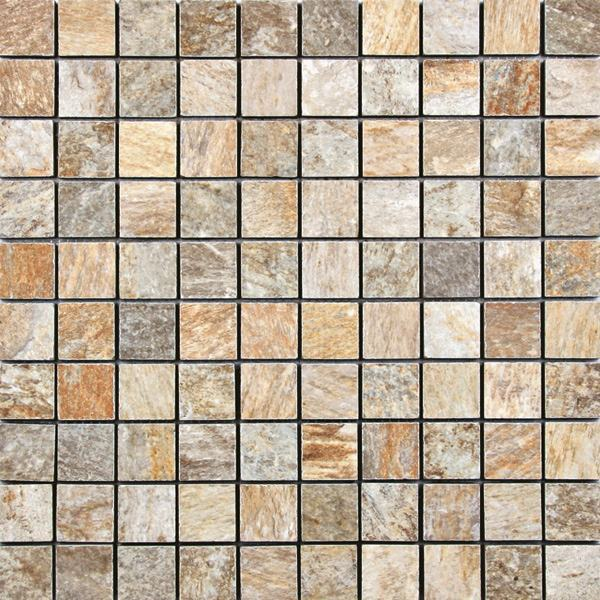 1 x 1 Quarzite Gold mosaic
