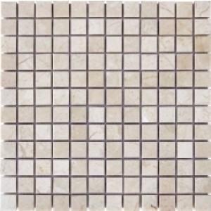 1 x 1 Daino Crema mosaic