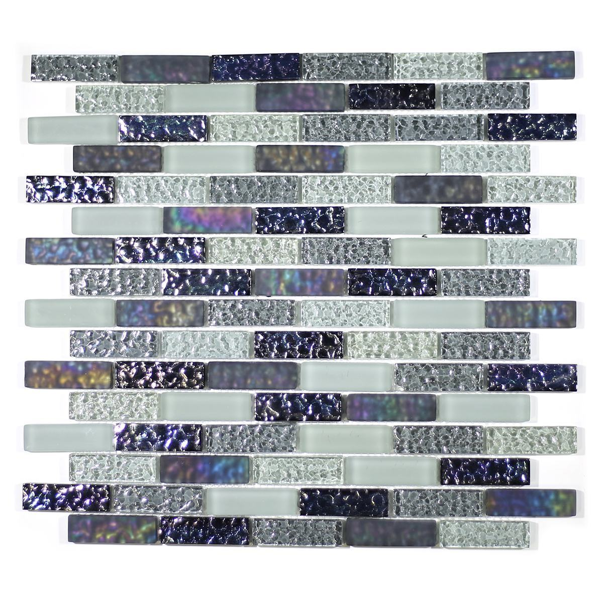 "MA08-LB  2"" BRICK GLASS MOSAIC BLEND"