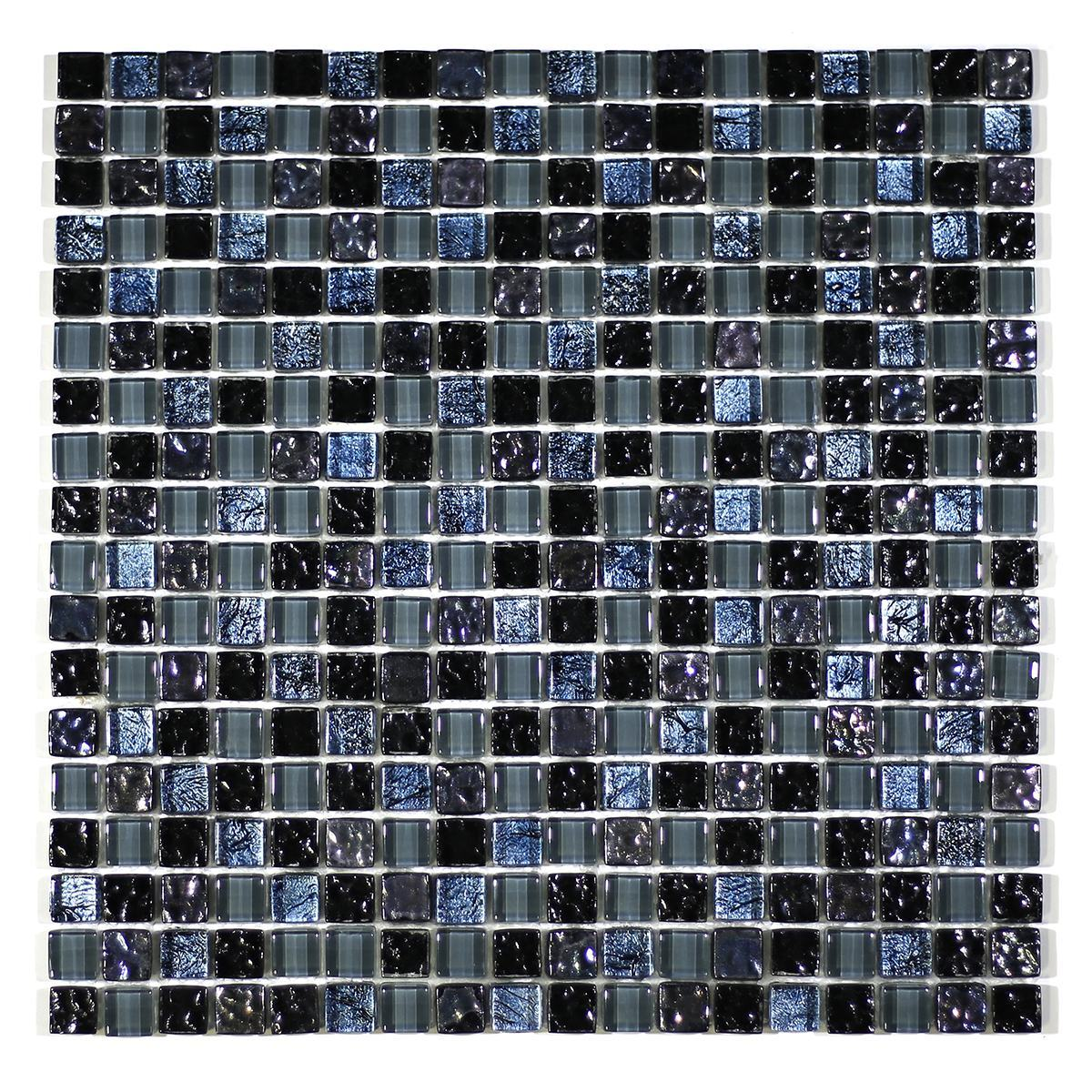 "MA09-S  5/8"" SQUARE GLASS MOSAIC BLEND"