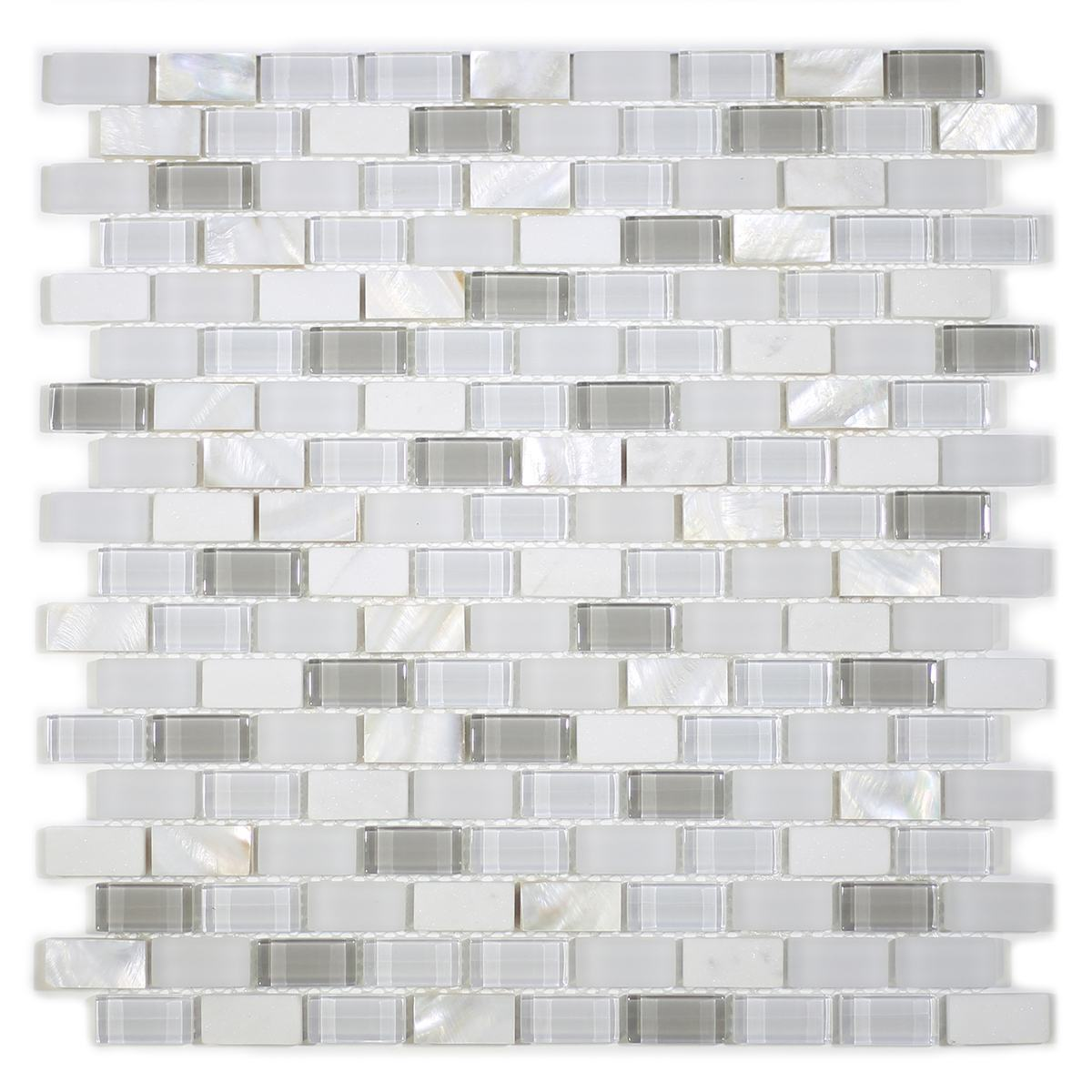 MA68-LB  BRICK SHELL, MARBLE AND GLASS MOSAIC