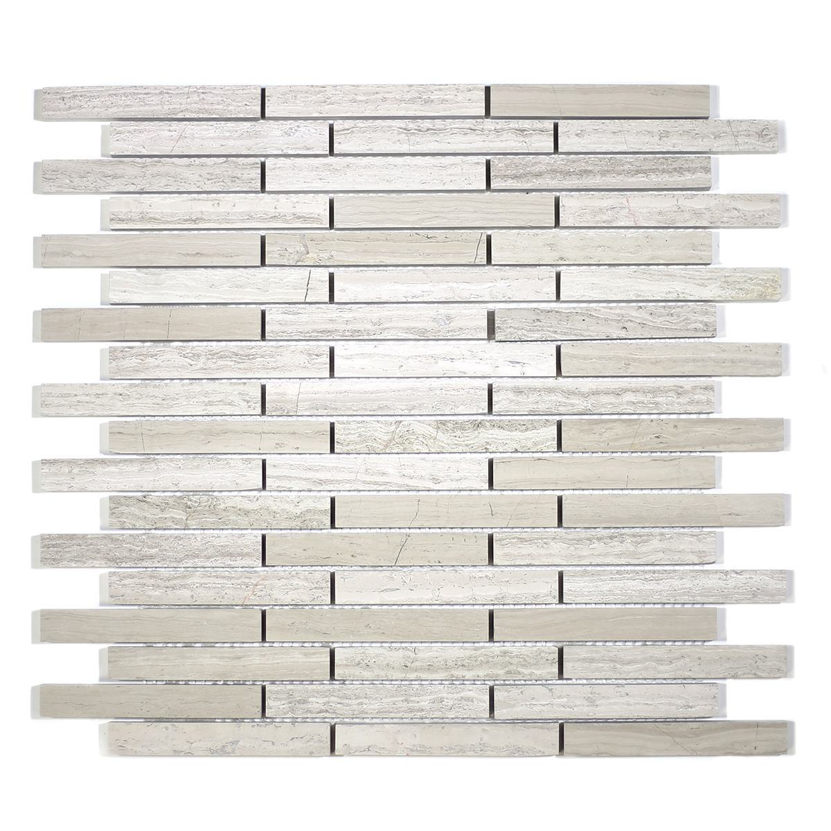 MA213-ST  5/8 Wooden white Strips with space polished