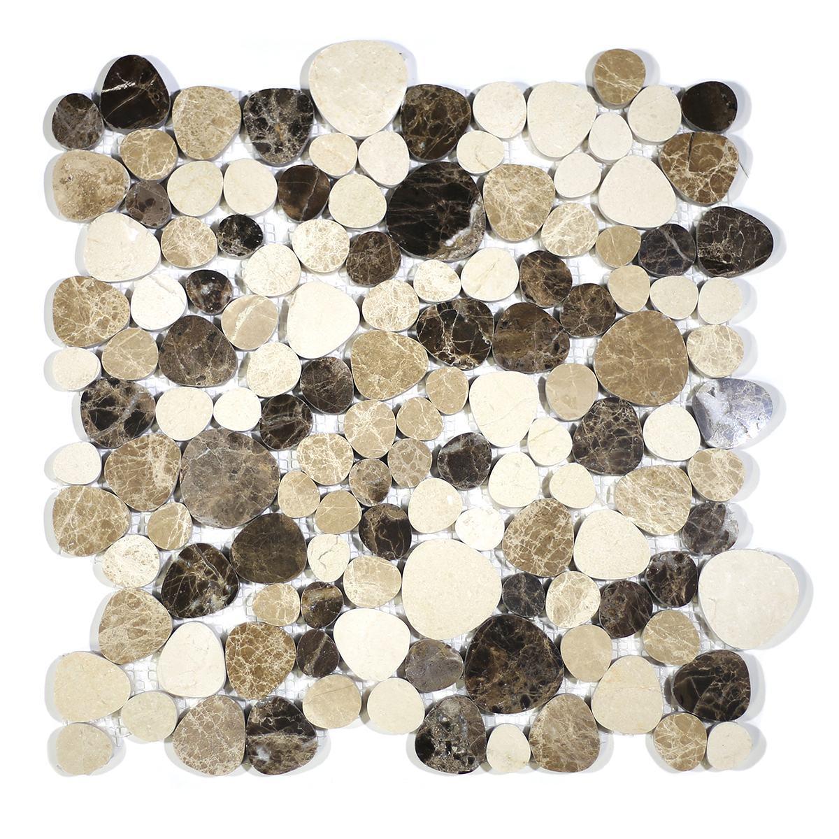 MA241-PB  Pebbles Crema Marfil, Emparador Polished