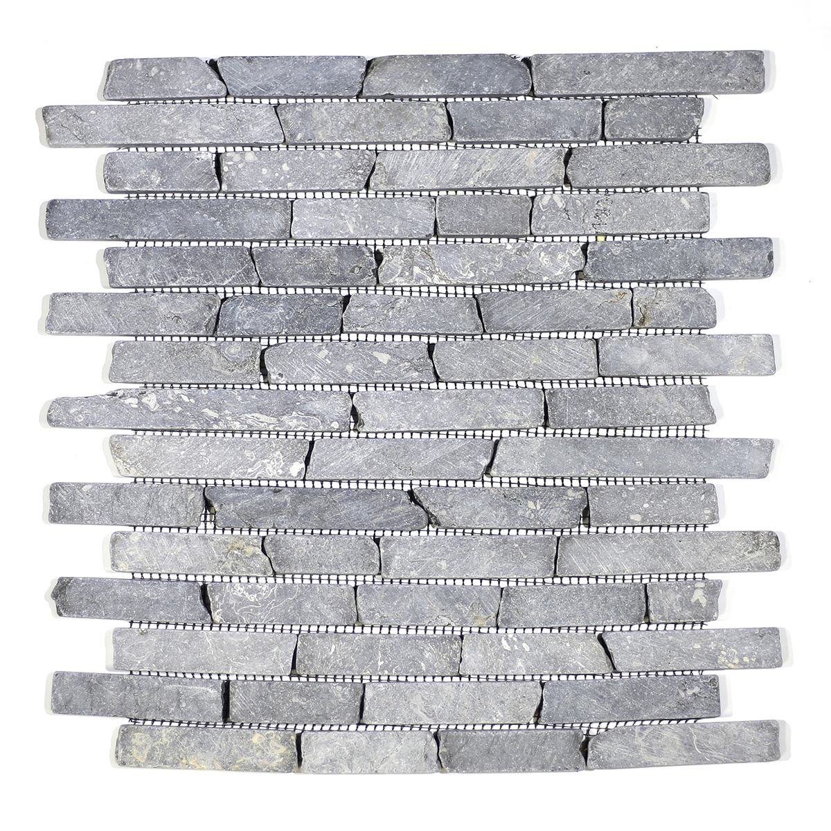 STICKS GREY TUMBLE MARBLE MOSAIC