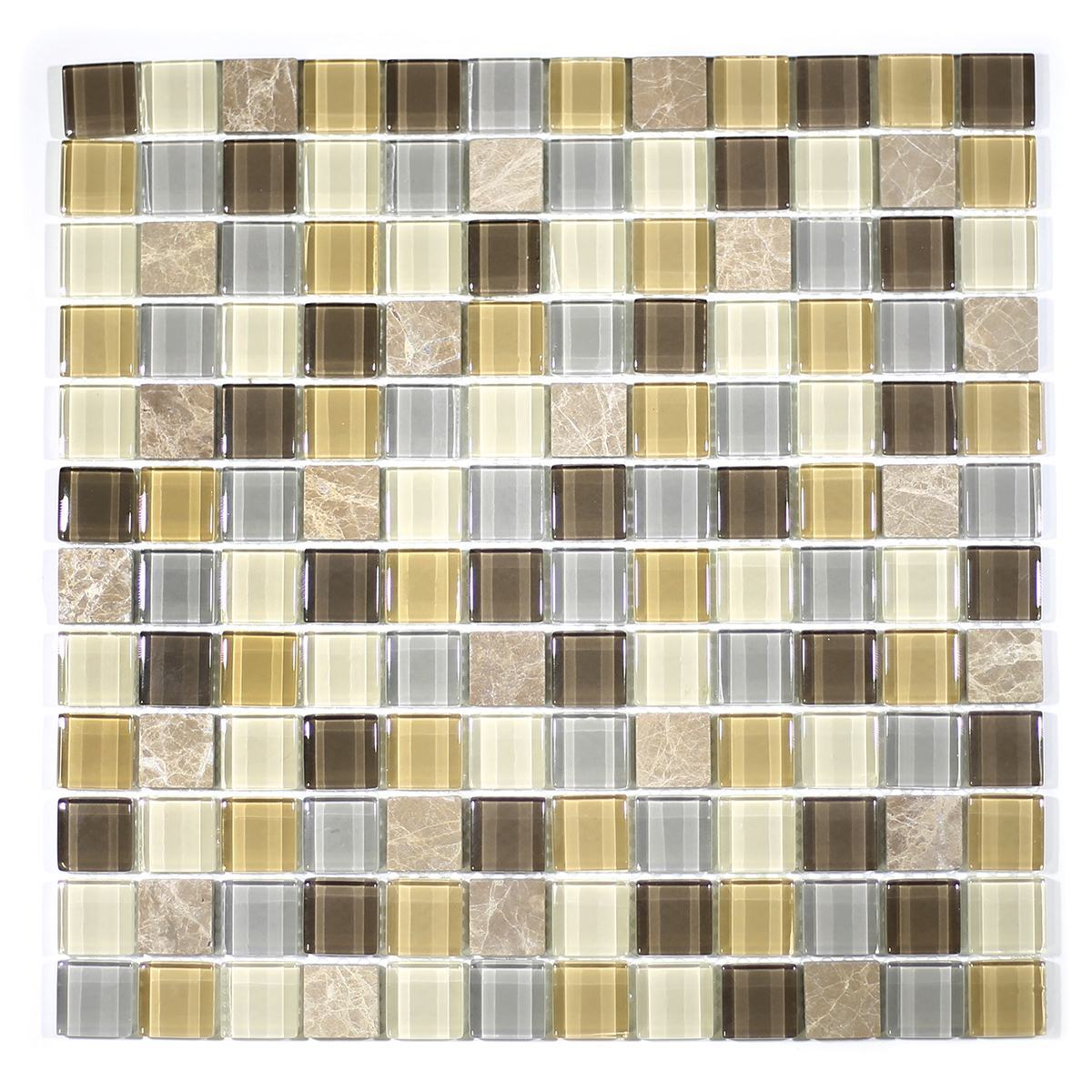 "MA01-LS  1"" SQUARE GLASS MOSAIC BLEND"