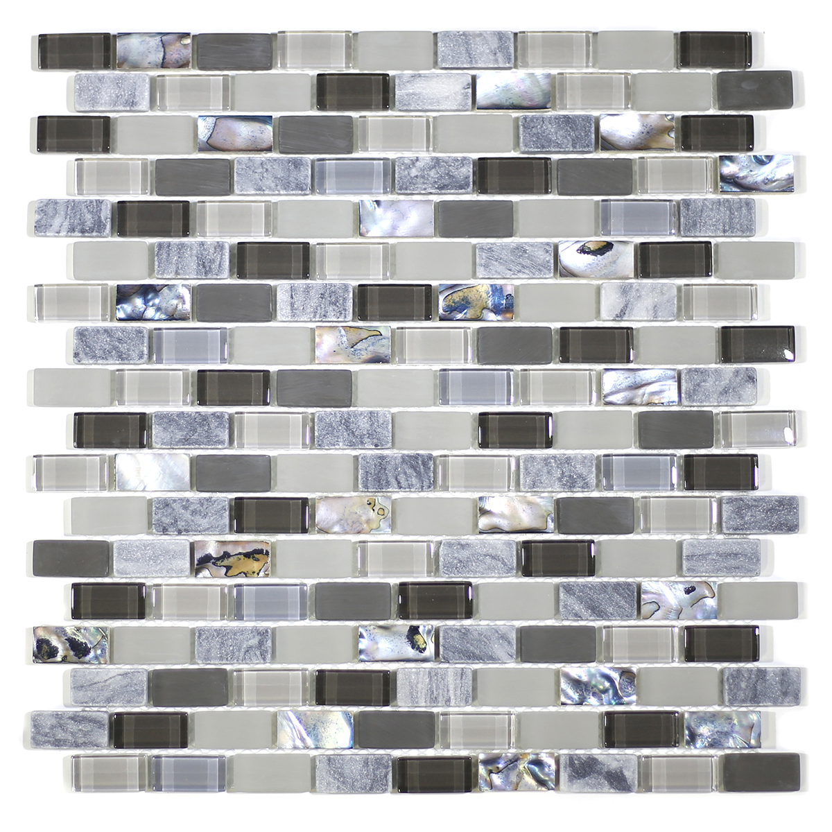 MA69-LB  BRICK SHELL, MARBLE AND GLASS MOSAIC