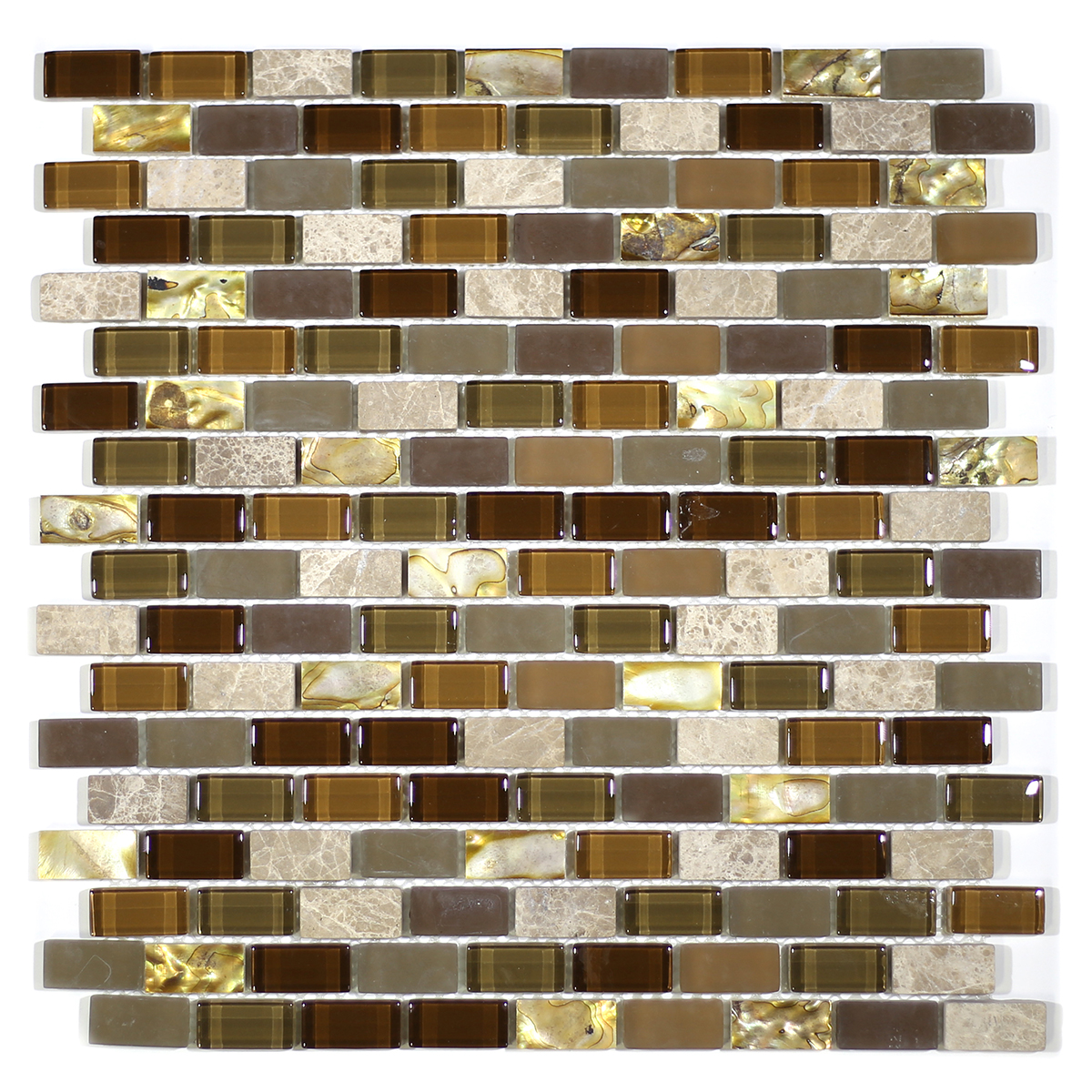 MA70-LB  BRICK SHELL, MARBLE AND GLASS MOSAIC
